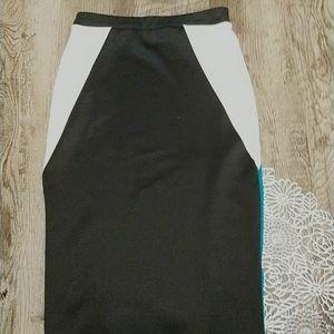 Charlotte Russe Skirts - Pencil skirt. Black, white and blue skirt.